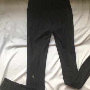 Long Lulu Lemon Leggings Dark Gray Sz4